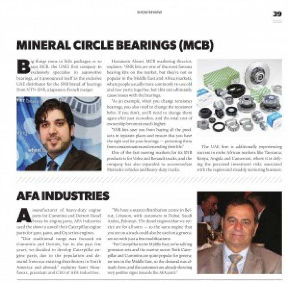 Mechanised Enterprise: Automechanika Dubai 2015