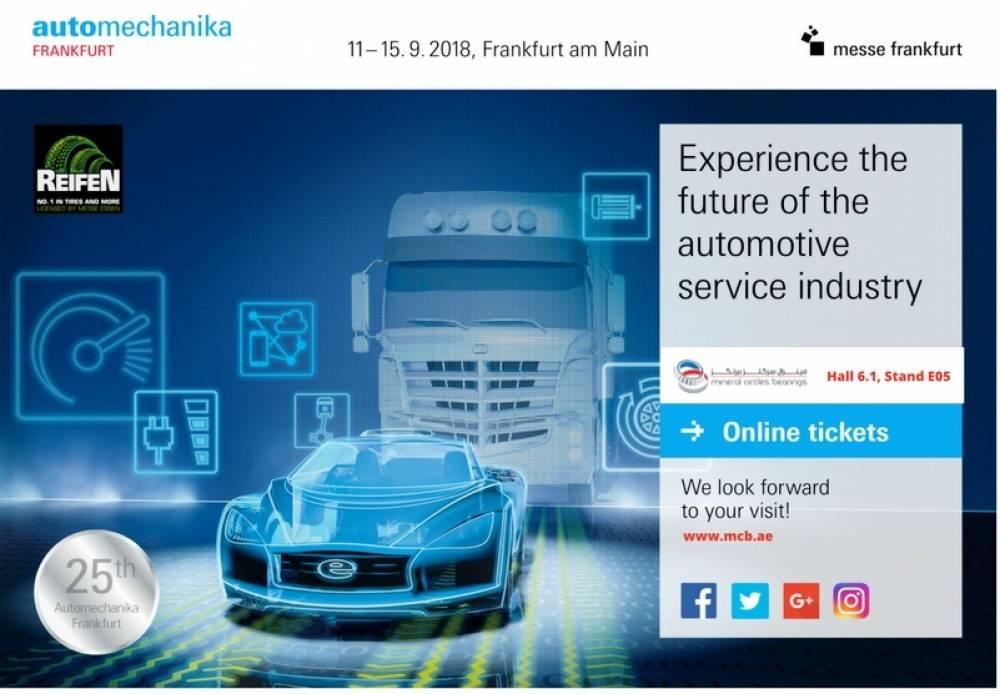 Mineral Circles Bearings joins key automotive aftermarket players at Automechanika Frankfurt's 25th anniversary this 2018