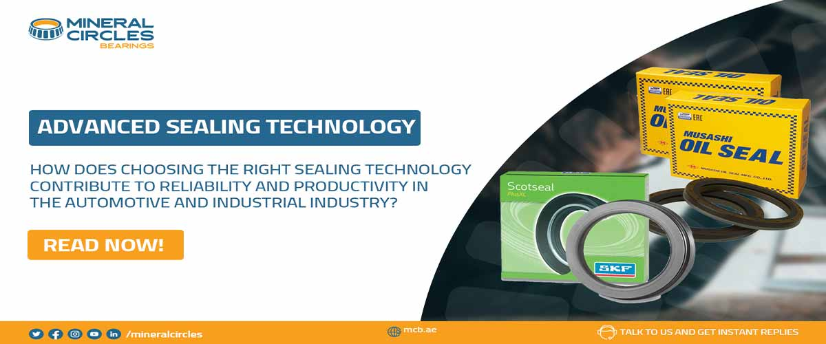 How does choosing the right sealing technology contribute to reliability and productivity in the automotive and industrial industry?