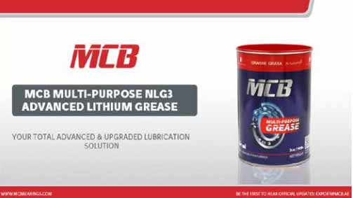 MCB Advanced NLGI3 Grease Featured in BearingNews' September Magazine Issue